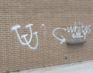 Texas HS spray painted with racist, anti-transgender messages before youth football camp