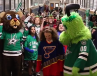VIDEO: The Ursuline Academy schools in Dallas and St. Louis are sparring over NHL playoffs