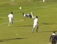 VIDEO: Holy cow! Gremio U-14 defender Thomas Luciano scored a majestic scorpion kick goal