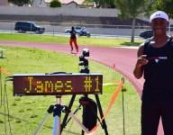 VIDEO: Las Vegas' Tre James makes up enormous deficit to win 4x100 relay