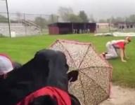 VIDEO: The Lowell baseball team spent a rain delay 'hunting'