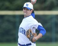 L'Anse Creuse's Spezia goes throwback socks, leads on mound, at plate