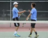 Three teams tied for first after Day 1 of boys state tennis tournament