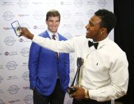 Eli Manning advises HS athletes to stay on track, avoid distractions at Jersey Shore Sports Awards