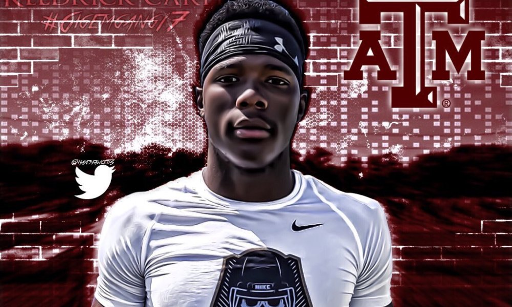 Keldrick Carper committed to Texas A&M after a coach told his mother to take a nap rather than a tour of campus (Photo: Twitter)