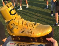 PHOTO: Cam Newton QB Skills Challenge trophy is awesome