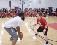 VIDEO: James Harden just one-upped Kevin Durant in the embarrassing hoops campers game