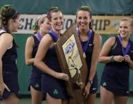 Cathedral's sister trio leads Irish to tennis state title