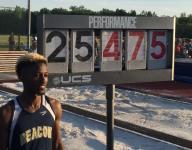 Beacon's Rayvon Grey breaks Beamon's state long jump mark, wins title
