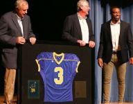 Goodpasture retires Keenan Reynolds' jersey