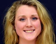 Riley Gaines prepares to swim in Olympic Trials