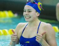 Carmel's Claire Adams to swim despite broken hand