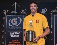 Gatorade Male Athlete of the Year Jayson Tatum gets a 'welcome to college' schooling from Jabari Parker