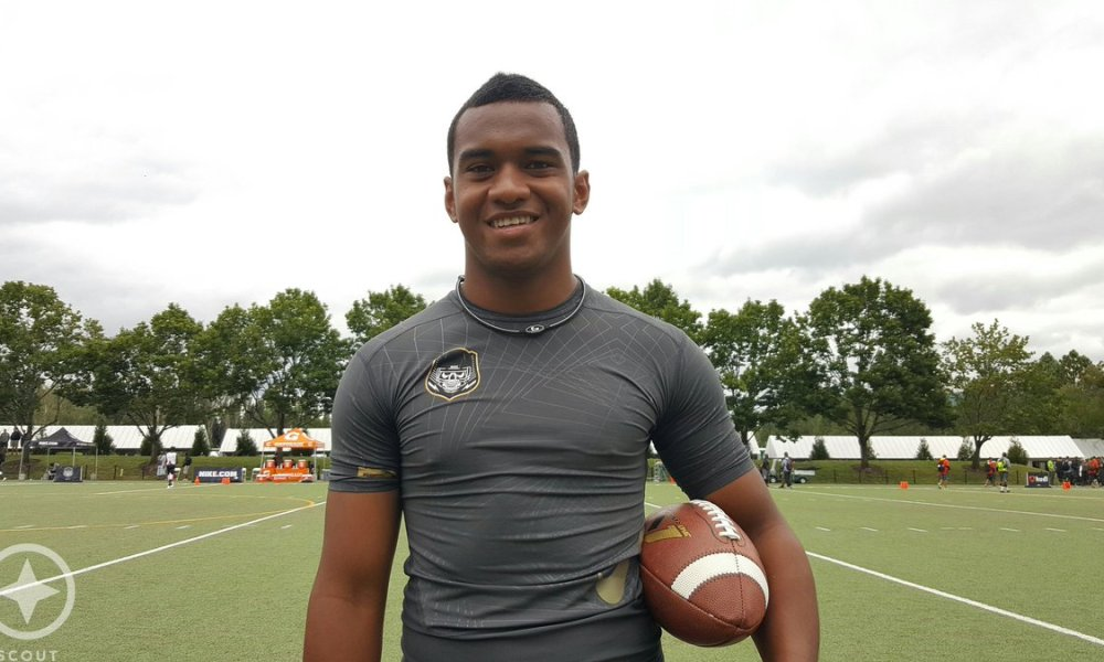 Alabama QB commit Tua Tagovailoa was named MVP of The Opening's 7-on-7 competition (Photo: Twitter)
