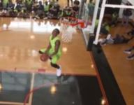 Top football prospects take part in dunk contest at The Opening
