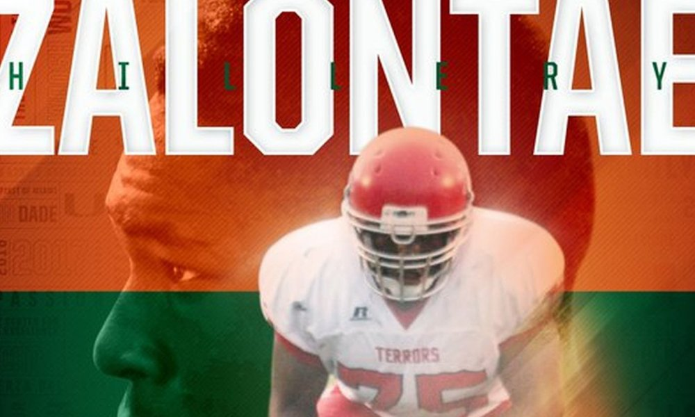 Zalontae Hillery committed to Miami (Photo: Twitter)