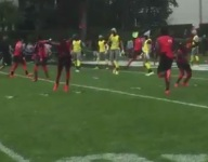 VIDEO: Trevon Grimes TD sets of field full of backflips at The Opening