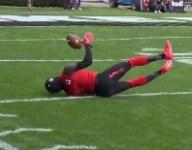 VIDEO: Richard LeCounte made an insane 4-juggle interception at The Opening