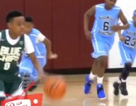 VIDEO: LeBron James Jr. keeps getting better, has perfected Dad's Euro step finish