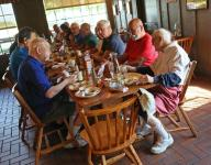 Band of football ROMEOs loves weekly breakfast meeting