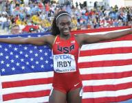 Lynna Irby sprints to silver medal, Indiana record in 400
