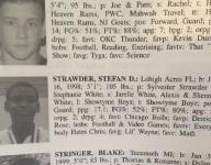 Stef'An Strawder through the years