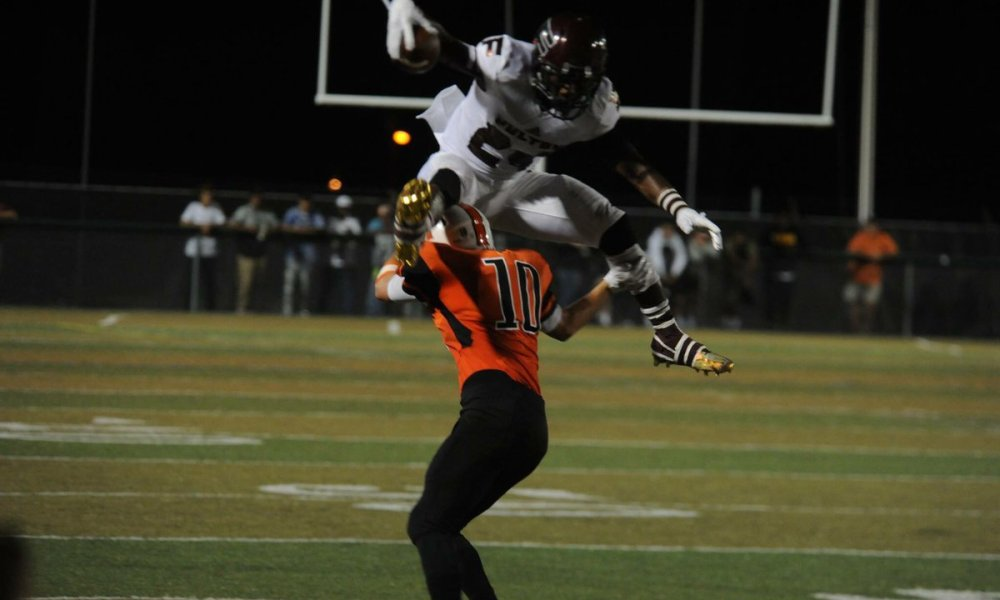 Zack Dobson hurtled a would-be defender during Knoxville Fulton's season (Photo: Twitter)