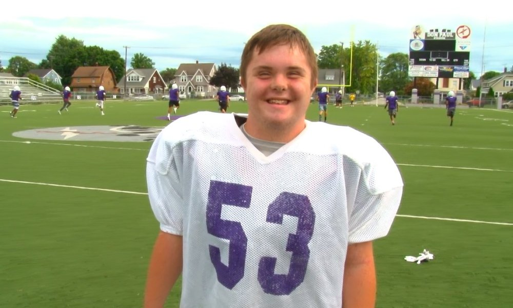 New Fremont Ross place kicker Caden Cox is a teen with Down Syndrome (Photo: Twitter)