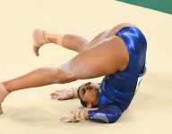 17-year-old British gymnast Ellie Downie courageous, but should she have been allowed to return?