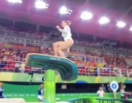VIDEO: A Croatian teen gymnast accidentally completed the easiest competitive vault of all-time