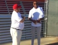 VIDEO: NFL legend Terrell Owens hangs out on the sidelines at Orange Lutheran game