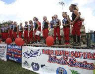 Supporters gather to celebrate softball team