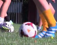 Video: Irvington girls soccer practice