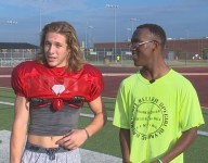 Texas QB passes homecoming king crown to friend with cerebral palsy