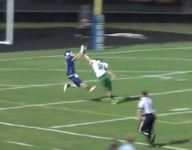 VIDEO: New Jersey defensive back makes a Beckham-like INT