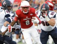 VIDEO: Louisville QB Lamar Jackson says he threw ball 100 yards in HS and here it is