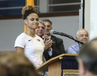 Olympic hurdler Sydney McLaughlin visits White House with SATs up next