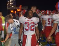 Pace scores three TDs in third quarter en route to win
