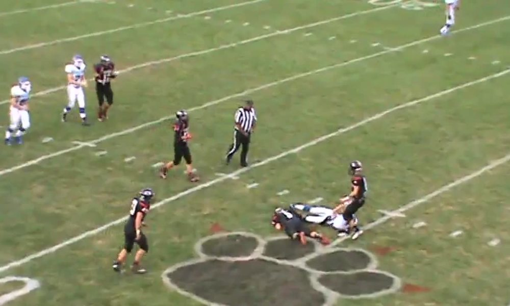 Vanlue RB A.J. Reed carried the ball 59 times (Photo: Hudl)