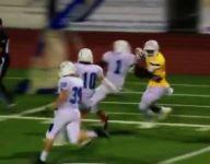 VIDEO: Washington commit Connor Weddington breaks tackles, rips jersey on return
