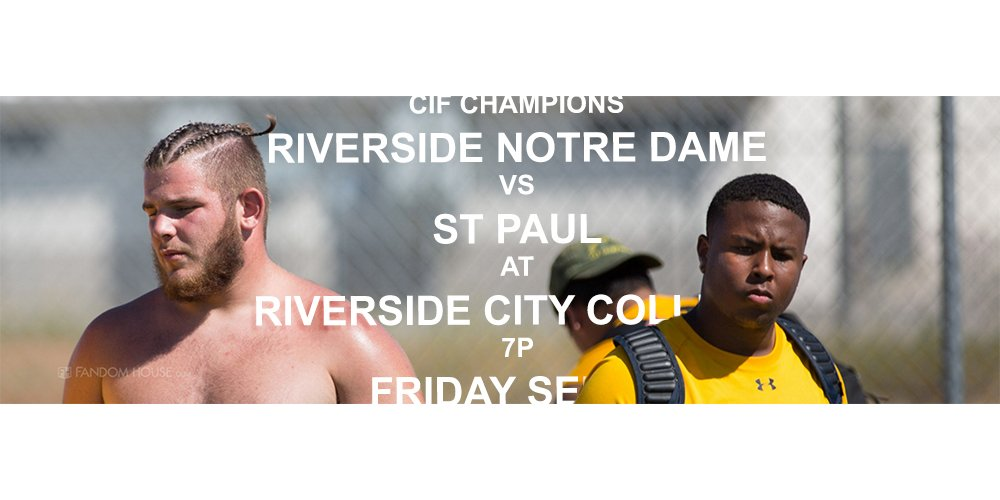 Riverside Notre Dame and Santa Fe Springs St. Paul were both forced to forfeit two games because of a third period brawl (Photo: Twitter)