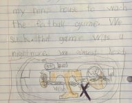 Miss the Tennessee-App. State game? A second grader has you covered