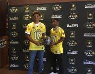 Cathedral (Los Angeles) teammates Hunter Echols, Jamire Calvin get Army All-American jerseys