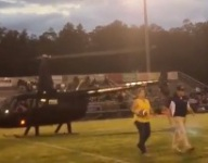 VIDEO: Louisiana game ball delivered by helicopter
