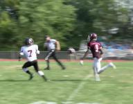 Caravel QB Barker connects with Montgomery on 59 yd TD pass