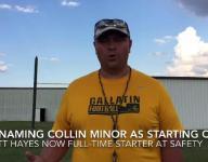 Gallatin football coach Mark Williams and senior Jordan Mason