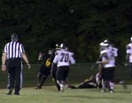 Glasgow LB Tymere Wilson sacks Sanchez in endzone for safety