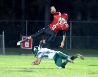 Gladiators roll past Hornets on senior night