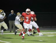 HS football: Yeast's huge night lifts Center Grove past Cathedral in OT