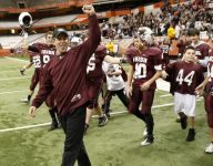 Aquinas football coach Chris Battaglia steps down after win